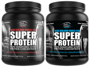 fortifeye-super-protein-chocolate and vanilla bottles